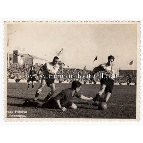 Fotografía partido Sabadell vs Valencia CF, años 1940s