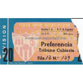 Sevilla FC vs RCD Español 22-05-1977 ticket