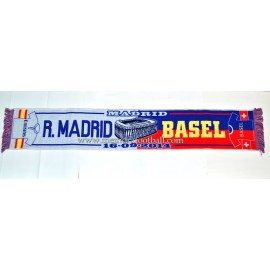 Real Madrid vs FC Basel 16-09-2014 UEFA Champions League scarf