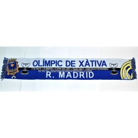 Real Madrid vs Olímpic de Xátiva 2013 Spanish FA Cup scarf