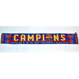 Bufanda FC Barcelona 14-04-2014 Final de la Copa del Rey
