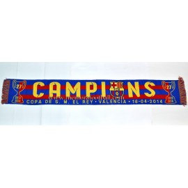 FC Barcelona 14-04-2014 Spanish FA Cup Final scarf
