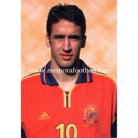 Tarjeta postal de RAÚL Selección Española 2002