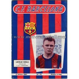 CF Barcelona vs Athletic de Bilbao 02-02-1957 Official programme