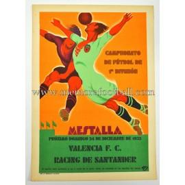 Valencia FC vs Racing de Santander 1933