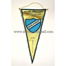 Banderín del CLUB BOLIVAR (Bolivia) 1990s