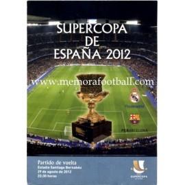 Programa Real Madrid vs FC Barcelona Final Supercopa de España 2012 Partido de vuelta