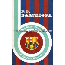 Programa CF Barcelona vs Real Oviedo 07-03-1976
