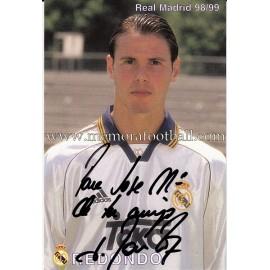 """FERNANDO REDONDO"" Real Madrid signed and dedicated photo"