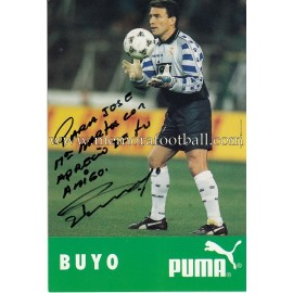 """BUYO"" Real Madrid signed and dedicated photo"