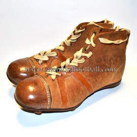"""THE CERT"" football/rugby boots 1910-20 England"