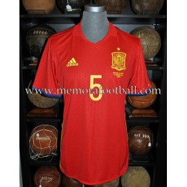 """SERGIO BUSQUETS"" Spain vs England 15-11-2016 match worn shirt"