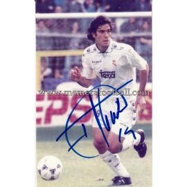 """FERNANDO SANZ"" Real Madrid CF signed photo"