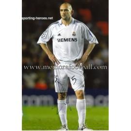 """RAUL BRAVO"" Real Madrid CF signed photo"