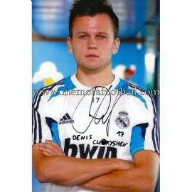 """""""Denís Chéryshev"""" Real Madrid CF signed photo"""