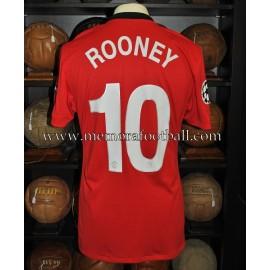 """ROONEY"" 2009-10 Manchester United Champions League match unworn shirt"