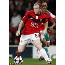 """ROONEY""  Manchester United 2009-10 Champions League match unworn shirt"