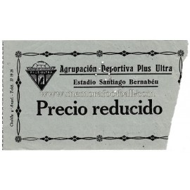 Entrada Plus Ultra vs Extremadura 06-04-1958