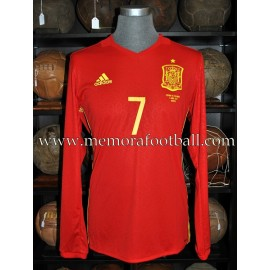 """MORATA"" Spain vs Colombia 07-06-2017 match worn shirt"