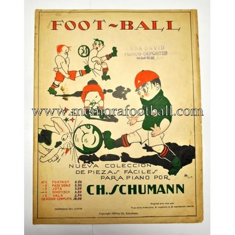 """FOOT-BALL"" Musical partiture for piano 1923 (CH. Schumann)"