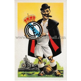 Antigua postal humorística del Real Madrid CF
