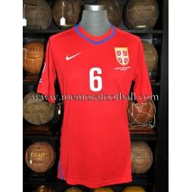 """""""Branislav Ivanovic"""" Serbia vs. France on September 9, 2009 match worn shirt"""