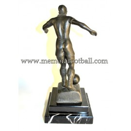 A spelter figure of a footballer 1930s Germany