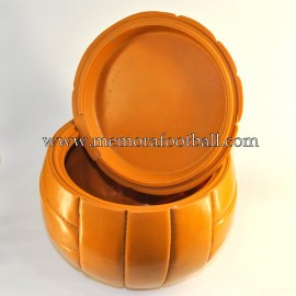 1960s vintage ice bucket in form of old leather football