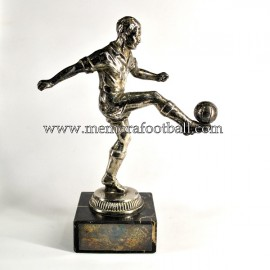 A spelter figure of a footballer c.1950