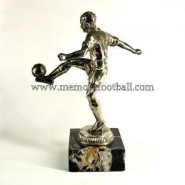 A spelter figure of a footballer c.1950