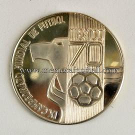Medalla oficial del Campeonato Mundial de Fútbol México 1970up Mexico colección de monedas del la Selección Alemana