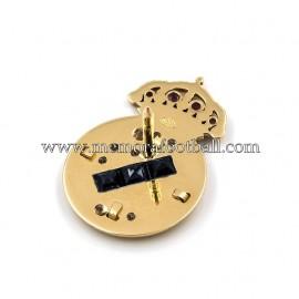 REAL MADRID CF gold and diamonds badge