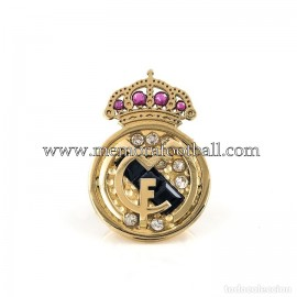 REAL MADRID CF gold and diamonds badge