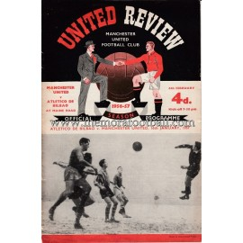 Manchester United v Atlético de Bilbao 16-01-1957 programme