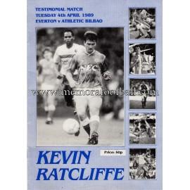 Programa del partido Everton v Atlético de Bilbao 04-04-1989