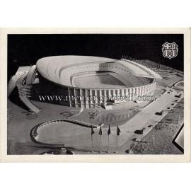 Nou Camp Stadium (FC Barcelona) scale model 1954 postcard