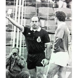 "Camiseta del árbitro español ""ANDUJAR OLIVER"" 1980s match worn"