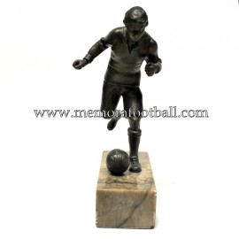 A spelter figure of a footballer 1920s Germany