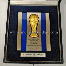 1982 FIFA World Cup (F.I.G.C.) plaque