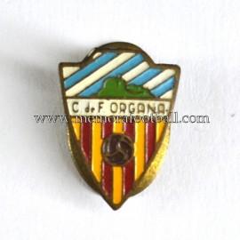 Antigua insignia esmaltada del C.F. Orgañá (España)
