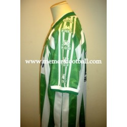 """IVÁN PÉREZ"" Real Betis Balompié 1997/1998 Kappa Home SS match worn shirt"