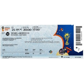 Spain vs Morocco - 2018 FIFA World Cup ticket