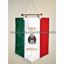 Banderín oficial bordado de la Federación Mexicana de Fútbol