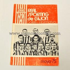 Boletín Informativo Real Sporting de Gijón vs Elche CF mayo 1975