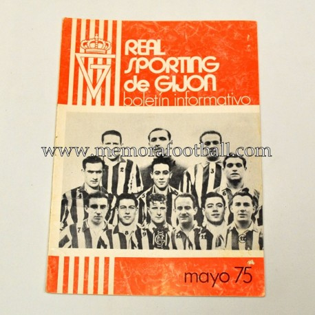 Real Sporting de Gijón vs Elche CF, may 1975 newsletter