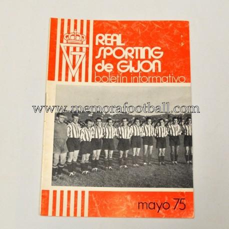 Real Sporting de Gijón vs Real Betis, may 1975 newsletter