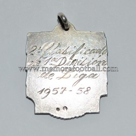 Atlético de Madrid - Medalla de Subcampeón de Liga 1957-58