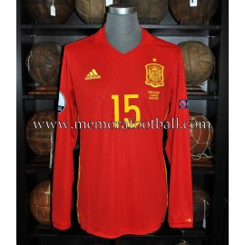 """RAMOS"" Spain vs Turkey 17-06-2016 EURO 2016 match worn shirt"