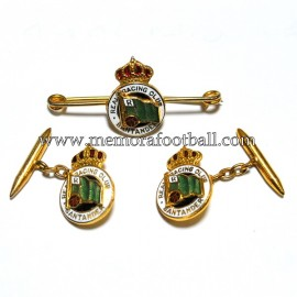 Cufflinks and tie pin of the Real Racing Club