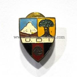 Antigua insignia esmaltada de la Unión Deportiva Icodense (España)